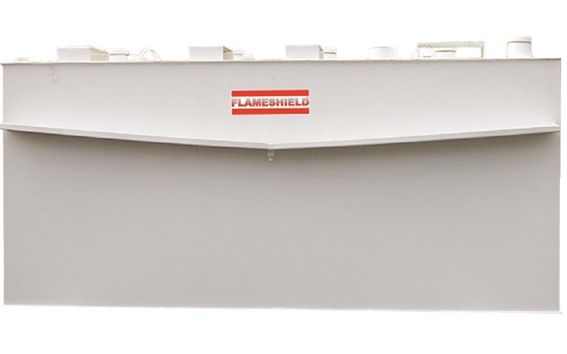 Flameshield Fire-Tested Steel Rectangular Storage Tank