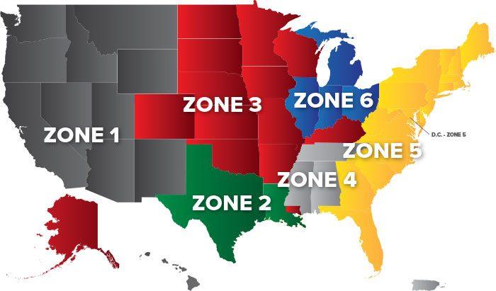 Hall Tank Sales Territories Map